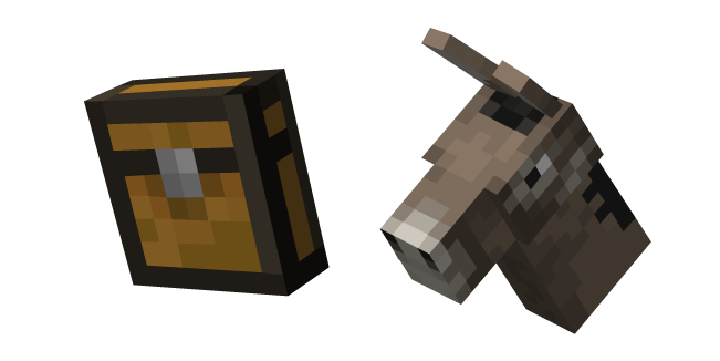 Minecraft Chest and Donkey