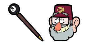 Курсор Gravity Falls Grunkle Stan and 8-ball Cane