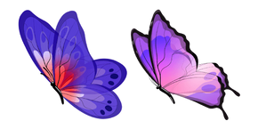 Blue and Purple Butterfly