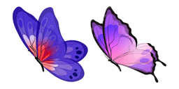 Blue and Purple Butterfly Cursor