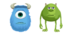 Mike Wazowski and Sulley Face Swap Meme Cursor