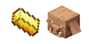 Minecraft Gold Ingot and Piglin Cursor