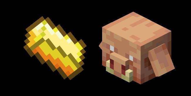 Minecraft Gold Ingot and Piglin