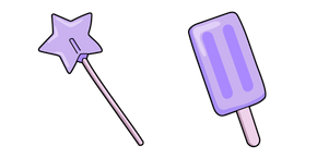VSCO Girl Star Lollipop and Fruit Pop Cursor