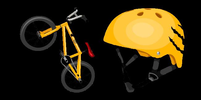 BMX and Helmet