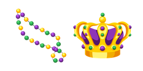 Mardi Gras Beads and Crown Cursor