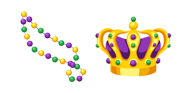 Mardi Gras Beads and Crown
