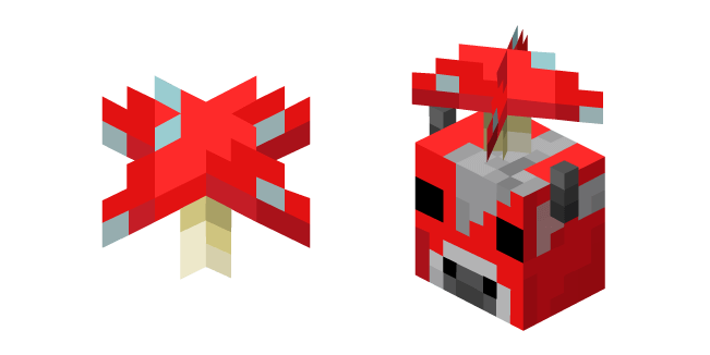 Minecraft Red Mushroom and Mooshroom