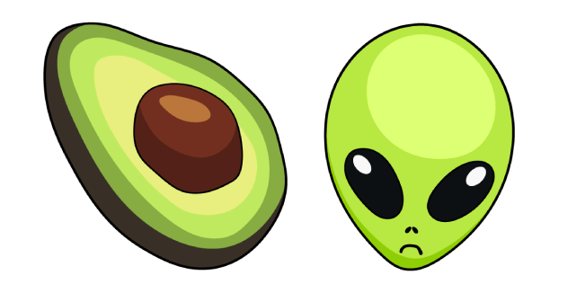 VSCO Girl Avocado and Alien
