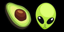 VSCO Girl Avocado and Alien Curseur