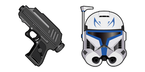 Star Wars CT-7567 Captain Rex DC-17 Hand Blaster