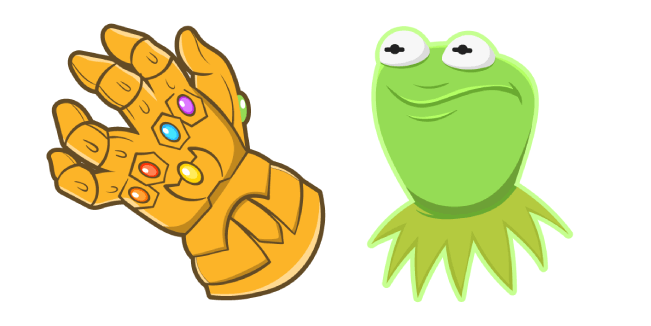 Kermit with the Infinity Gauntlet