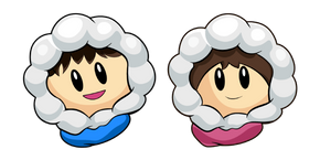 Ice Climber Popo And Nana Cursor