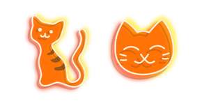Orange Cat Neon Cursor