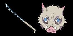 Demon Slayer Inosuke Hashibira Curseur