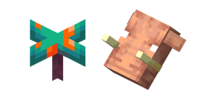 Minecraft Warped Fungus and Hoglin Cursor