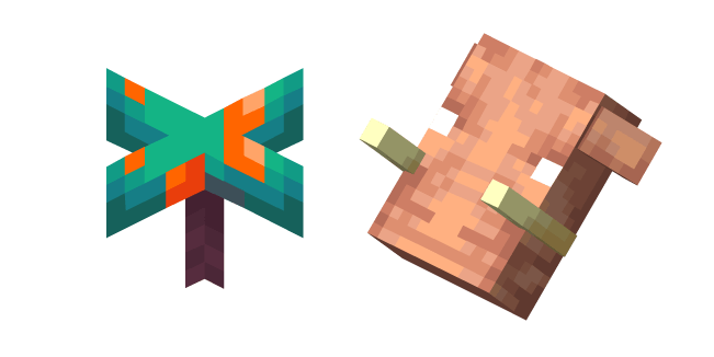 Minecraft Warped Fungus and Hoglin