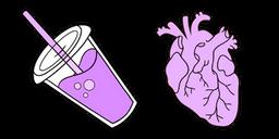 VSCO Girl Drink and Heart Cursor