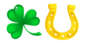 Saint Patrick's Day Clover and Horseshoe Cursor