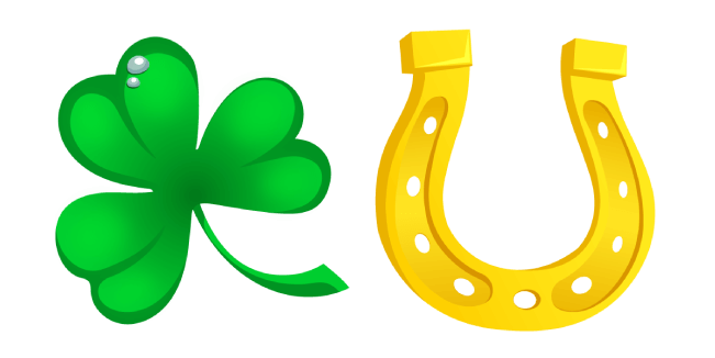 Saint Patrick's Day Clover and Horseshoe