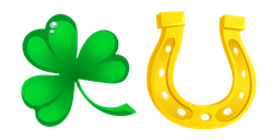 Saint Patrick's Day Clover and Horseshoe Cursor