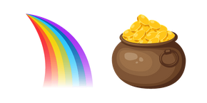 Saint Patrick's Day Rainbow and Pot of Gold Cursor