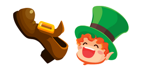 Saint Patrick's Day Leprechaun and Shoe Cursor
