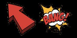 Retro Comics Arrow and Bang Cursor