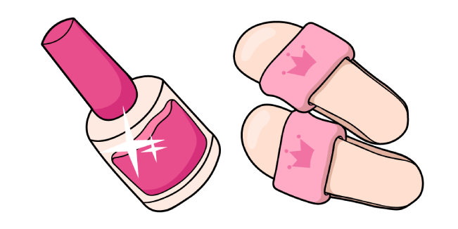 VSCO Girl Nail Polish and Slippers