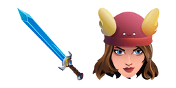 Fortnite Skye Skin Epic Swords of Wonder Pickaxe Curseur