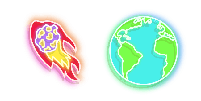 Colourful Comet and Earth Neon