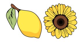 VSCO Girl Lemon and Sunflower Cursor