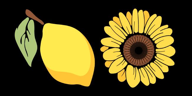 VSCO Girl Lemon and Sunflower