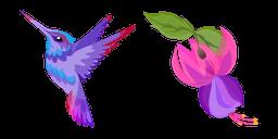Hummingbird and Fuchsia Flower Cursor