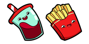 Cute Soft Drink and Fries Curseur