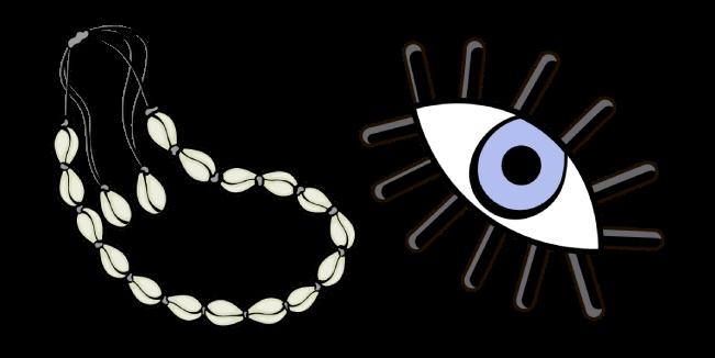 VSCO Girl Shell Choker and Eye