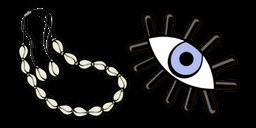 VSCO Girl Shell Choker and Eye Curseur