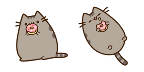 Pusheen Eating Donut Cursor