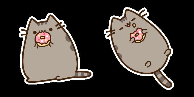 Pusheen Eating Donut