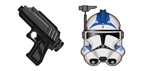Star Wars CT-5555 Fives DC-17 Hand Blaster Curseur