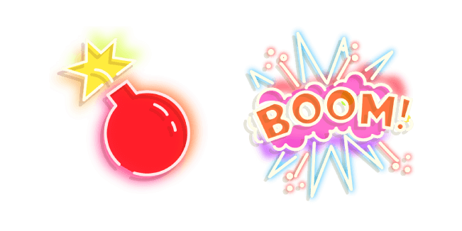 Red Bomb and Boom Neon