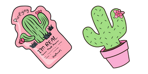 VSCO Girl Cactus Mask and Plant Cursor