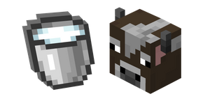 Minecraft Cow and Milk Bucket Curseur