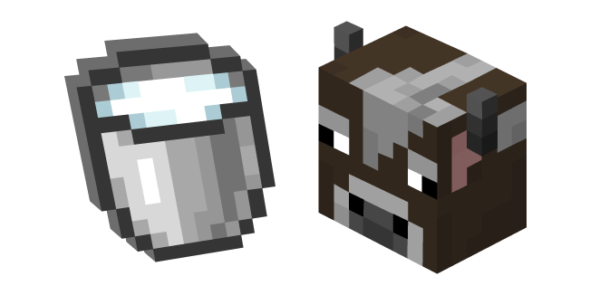 Minecraft Cow and Milk Bucket