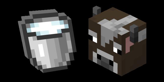 Minecraft Cow and Milk Bucket