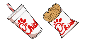 Курсор Chick-fil-A Soda Drink and Waffle Potato Fries