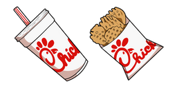 Chick-fil-A Soda Drink and Waffle Potato Fries Cursor