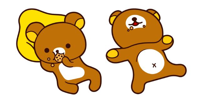 Rilakkuma Eating Cookie