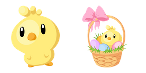 Easter Chick and Basket Cursor