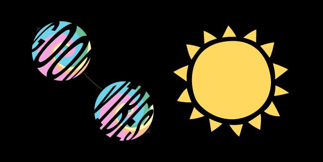 VSCO Girl Round Sunglasses and Sun